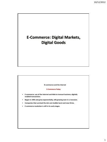 E-Commerce My Lecture (PDF) - Furman University