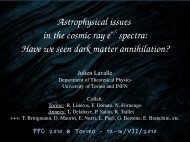 Astrophysical issues in cosmic electron and ... - PPC 2010 - Infn
