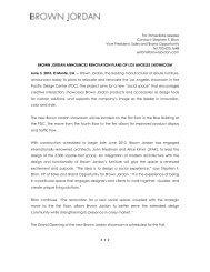 June 3, 2010 Brown Jordan Announces Renovation Plans of Los ...