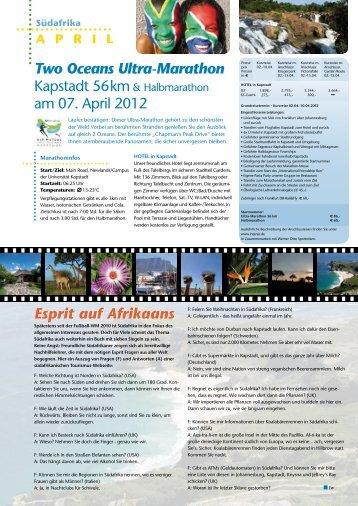 Two Oceans Ultra-Marathon am 07. April 2012 Esprit auf Afrikaans