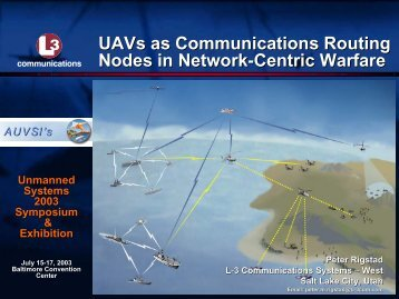UAVs as Communications Routing Nodes in Network ... - aero.com