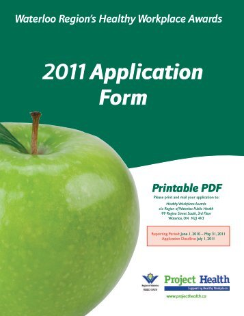 2011 Application Form - Project Health