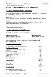 Kapitel 1: Volkswirtschaftliche Grundbegriffe 1.1 ... - zweiterstock.ch