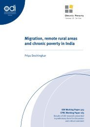 Migration, remote rural areas and chronic poverty in India - Working ...