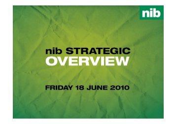 nib strategic overview presentation – June 2010