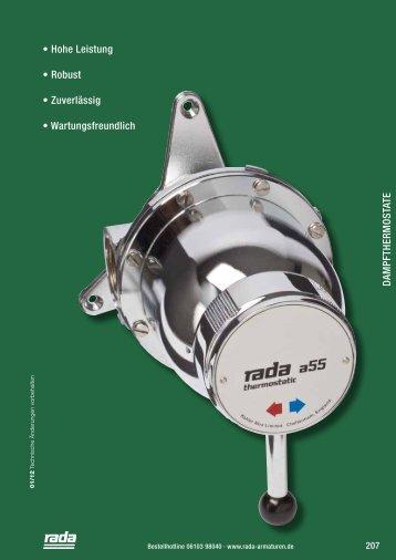 Dampfthermostate - Rada Armaturen GmbH