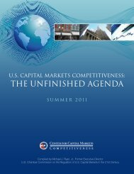THE UNfiNISHED AGENDA - US Chamber of Commerce