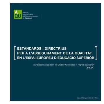 Estàndards i directrius per a l'assegurament de - ENQA