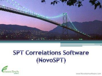 SPT Correlations Software (NovoSPT) - Novo Tech Software