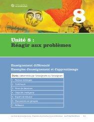 Unité 8 : Réagir aux problèmes - ProblemGambling.ca