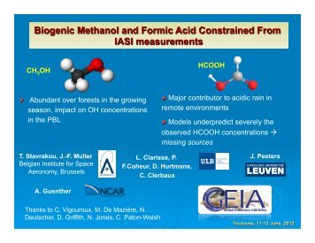 Biogenic Methanol and Formic Acid Constrained From IASI ...
