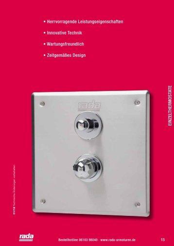 Einzelthermostate - Rada Armaturen GmbH