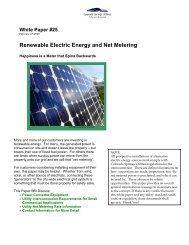 Renewable Electric Energy and Net Metering - Colorado Springs ...
