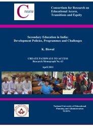 Secondary education in India - Indiagovernance.gov.in