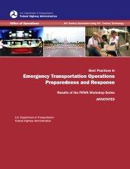 Emergency Transportation Operations Preparedness and Response