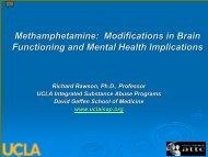 Methamphetamine - UCLA Integrated Substance Abuse Programs