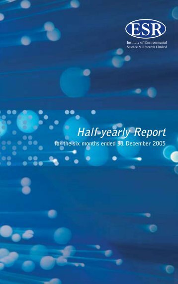 Half-Yearly Report 2005 - Environmental Science & Research