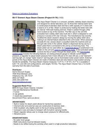 66-17 Emmevi Aqua Steam Cleaner (Project 01-76) (1/02)