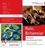 Rule, Britannia! Weltblech Neujahrskonzert 2012