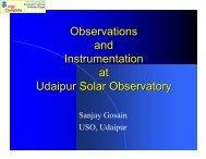 Observations and Instrumentation at Udaipur Solar Observatory