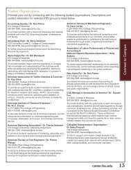 Professional Student Organizations and Faculty Advisors