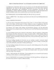an ordinance amending the city of las vegas vacant building