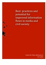 Best practices and potential for improved information flows in media ...