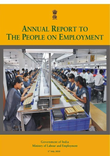 Annual Report to the People on Employment - Directorate General ...