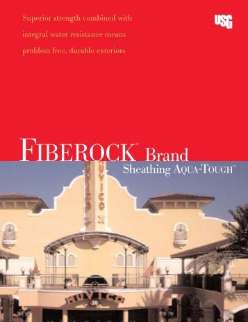 FIBEROCK® Brnad Sheathing AQUA-TOUGH - Gypsum Today