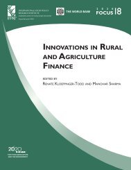 Innovations in Rural and Agriculture Finance