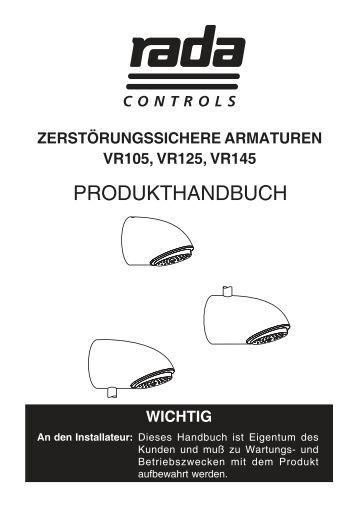 Handbuch (PDF) - Rada Armaturen GmbH