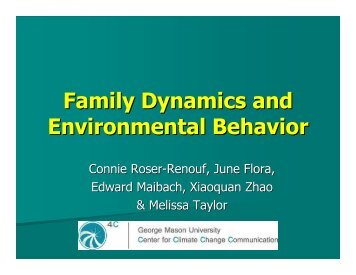 Family Dynamics and Environmental Behavior