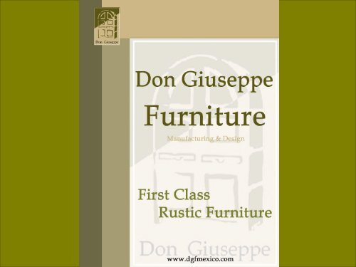 Don Giuseppe Furniture - B2B