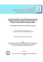 An Empirical Study of the Relationship between Macroeconomic ...