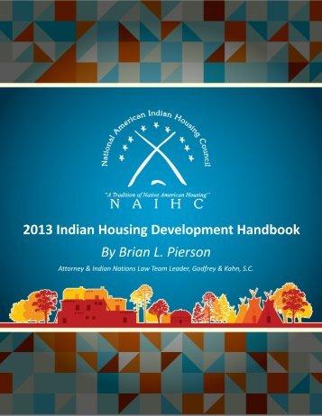 2013 Indian Housing Development Handbook - National American ...