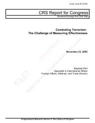 Combating Terrorism: The Challenge of Measuring Effectiveness
