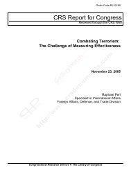 Combating Terrorism: The Challenge of Measuring Effectiveness