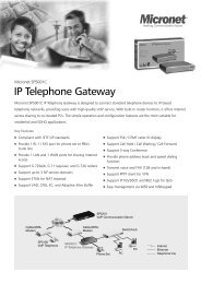 IP Telephone Gateway - Micronet-Network Camera, Switch ...