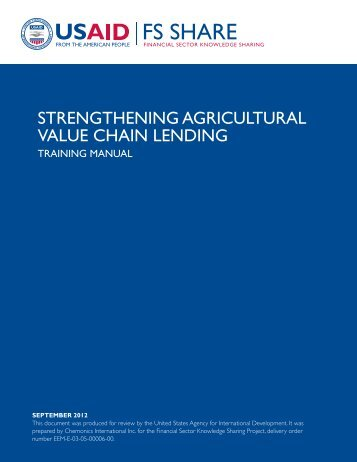 Toolkit Training Guide (PDF) - Agriculture Finance Support Facility
