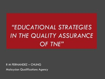 Malaysian Qualifications Framework - Internationalising Higher ...