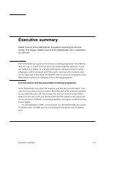 Executive summary - Gezondheidsraad