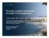 Towards a realistic assessment of mobile TV ... - LIRNEasia