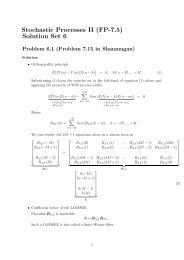 Stochastic Processes II (FP-7.5) Solution Set 6