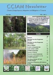 CCIAM Newsletter - Sokoine University of Agriculture