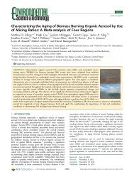 Characterizing the Aging of Biomass Burning Organic Aerosol by ...