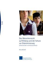 Das Menschenrecht auf Bildung und der Schutz vor Diskriminierung