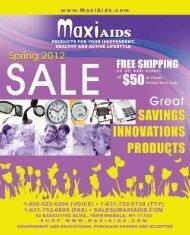MaxiAids 42 Executive Blvd. PO Box 3209 Farmingdale, NY 11735 ...