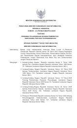 Peraturan Menteri Kominfo Nomor 23 Tahun 2009 - Perundangan ...