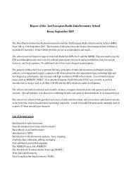 Report of the 2nd European Radio Interferometry School - RadioNet