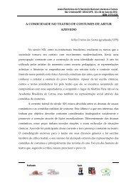 A COMICIDADE NO TEATRO DE COSTUMES DE ARTUR AZEVEDO